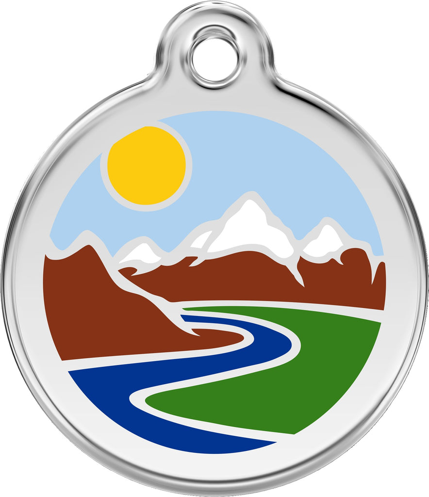 Enamel & Stainless Steel Mountain freeshipping - Love Your Pets