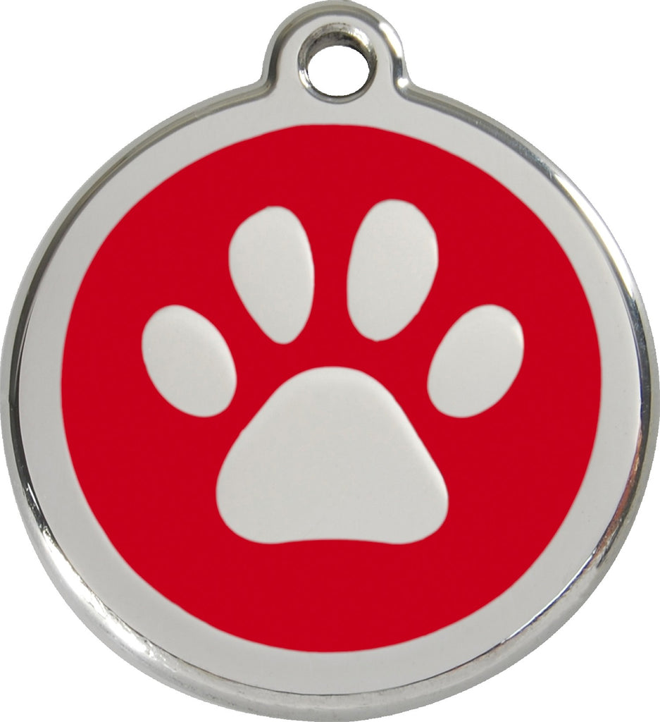 Enamel & Stainless Steel Pawprint - Multiple Colors Available loveyp