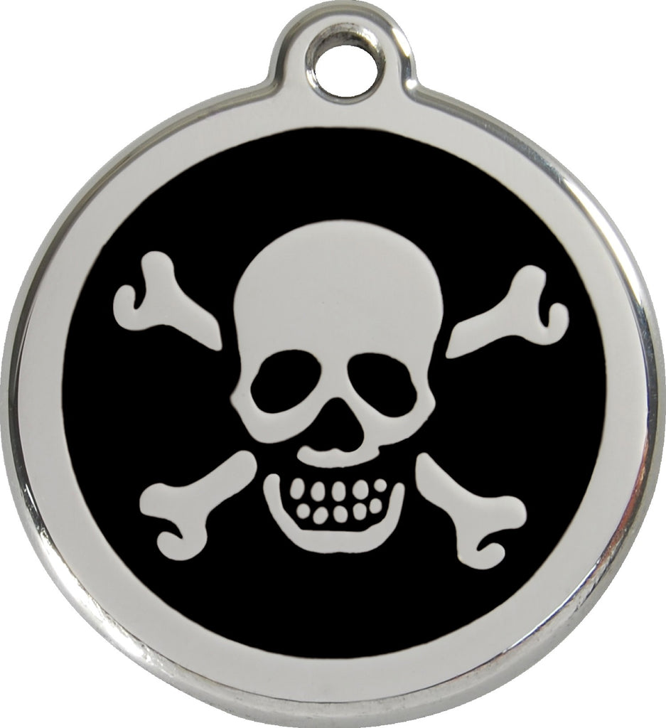 Enamel & Stainless Steel Skull & Crossbones - Multiple Colors Available loveyp