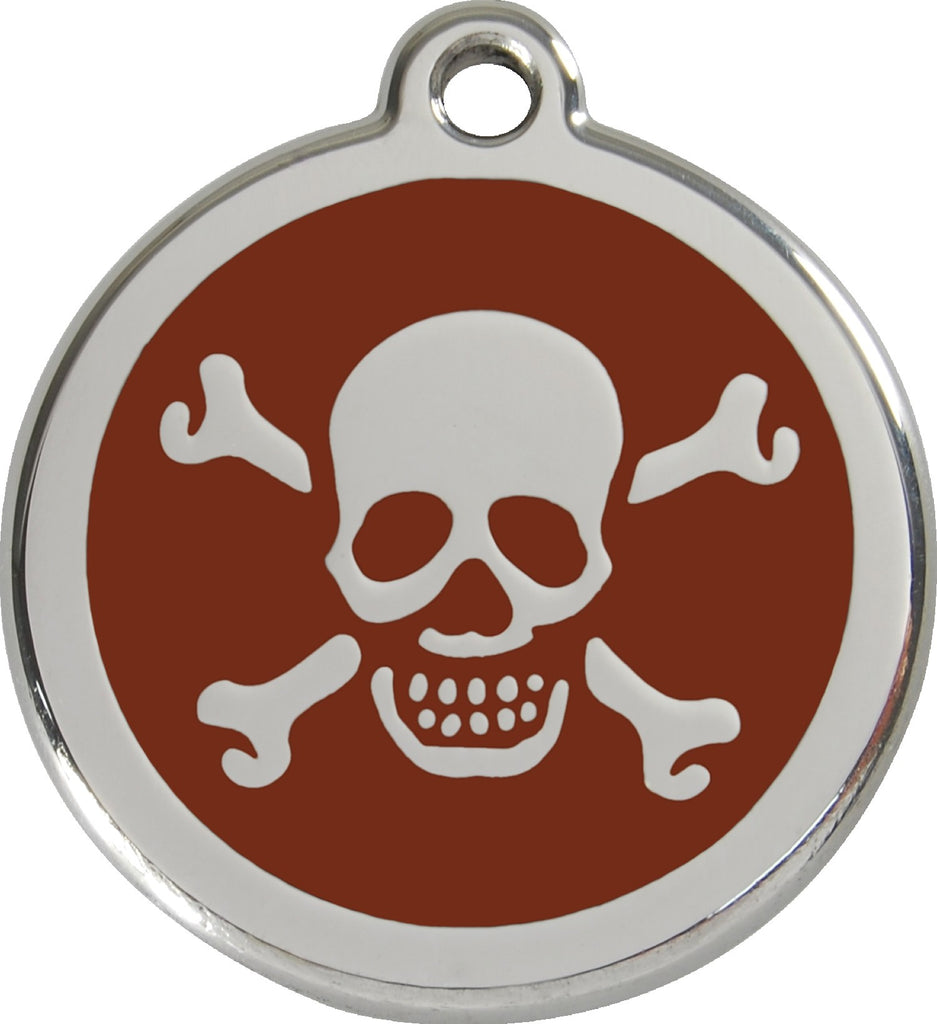 Enamel & Stainless Steel Skull & Crossbones - Multiple Colors Available freeshipping - Love Your Pets