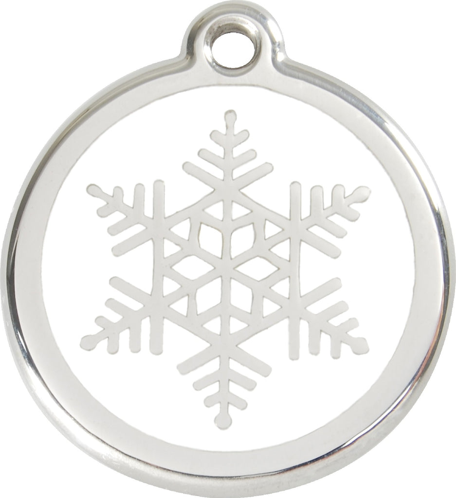 Enamel & Stainless Steel Snow Flake loveyp