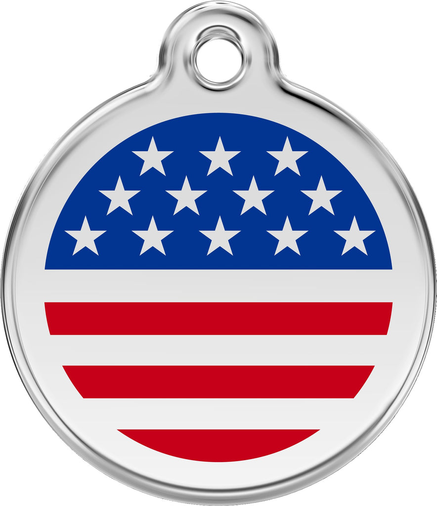 Enamel & Stainless Steel US Flag loveyp