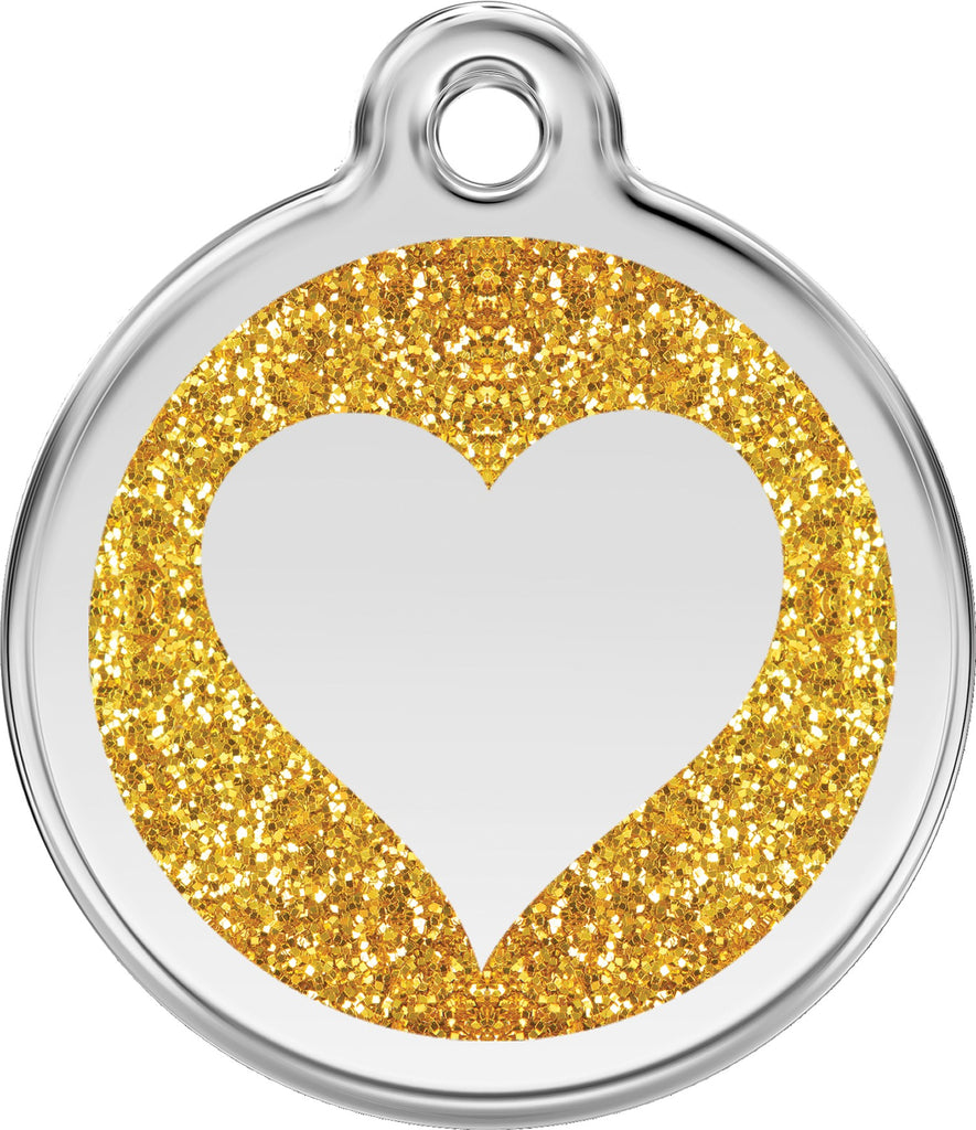 Glitter Enamel & Stainless Steel Heart - Multiple Colors Available freeshipping - Love Your Pets