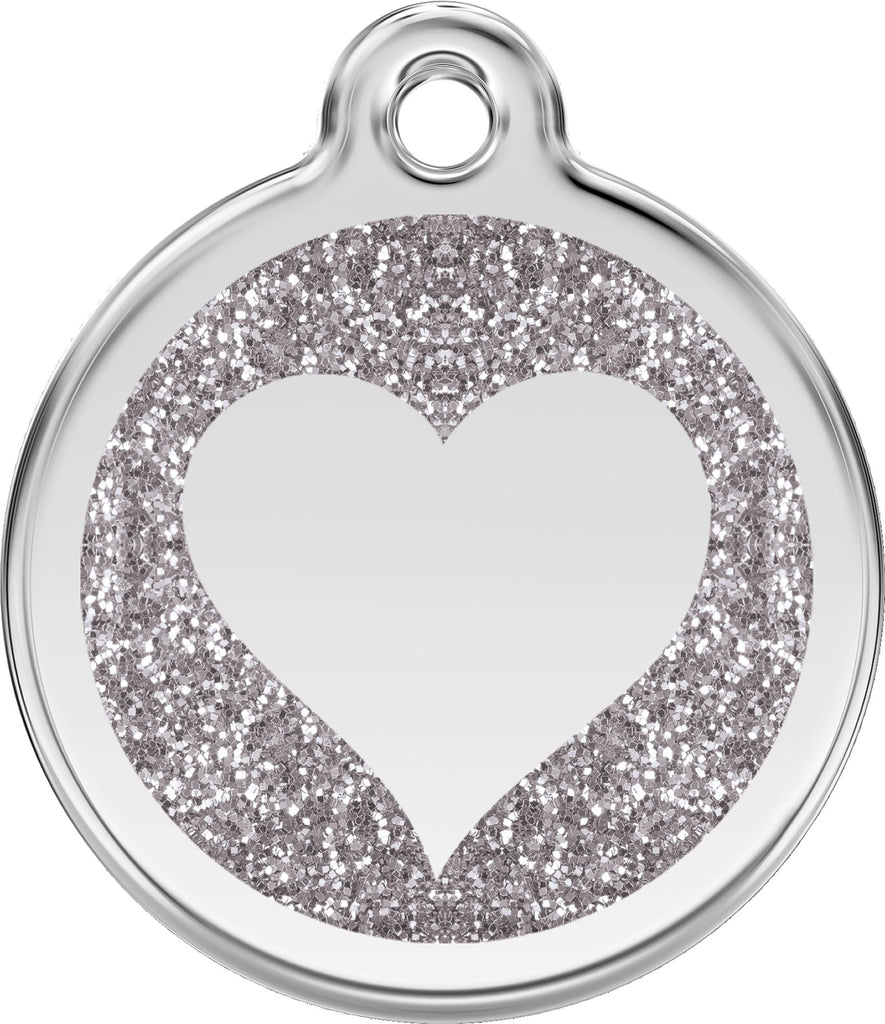 Glitter Enamel & Stainless Steel Heart - Multiple Colors Available loveyp