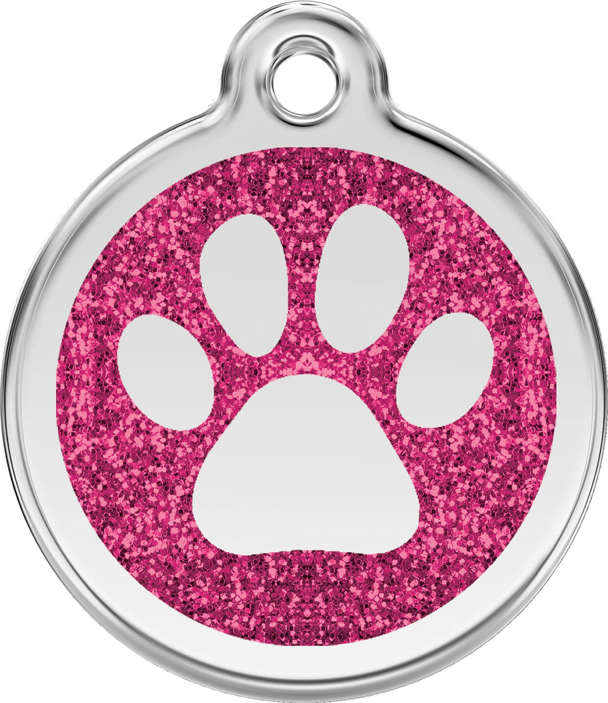 Glitter Enamel & Stainless Steel Paw - Multiple Colors Available freeshipping - Love Your Pets