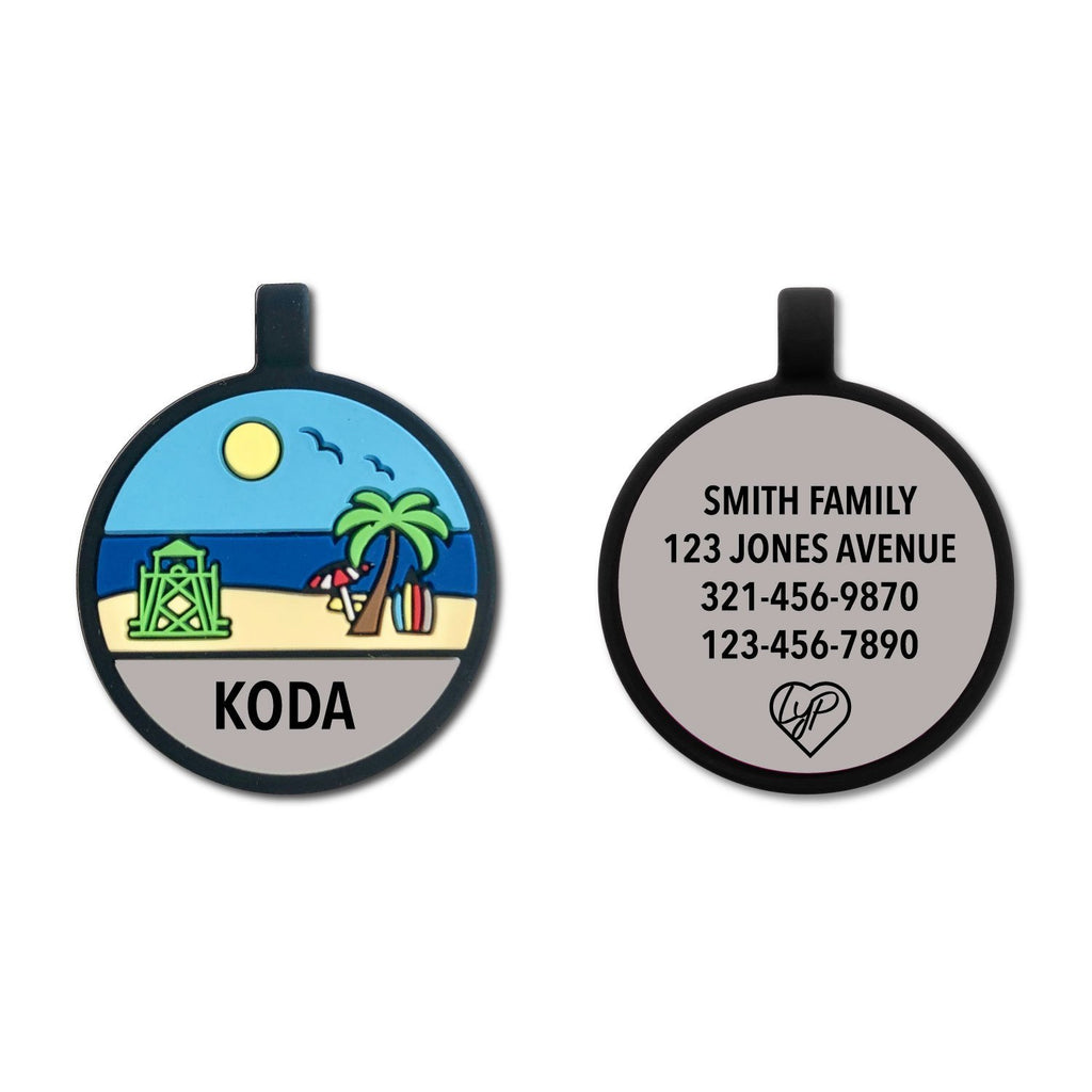 Soundless Beach Pet Tag loveyp