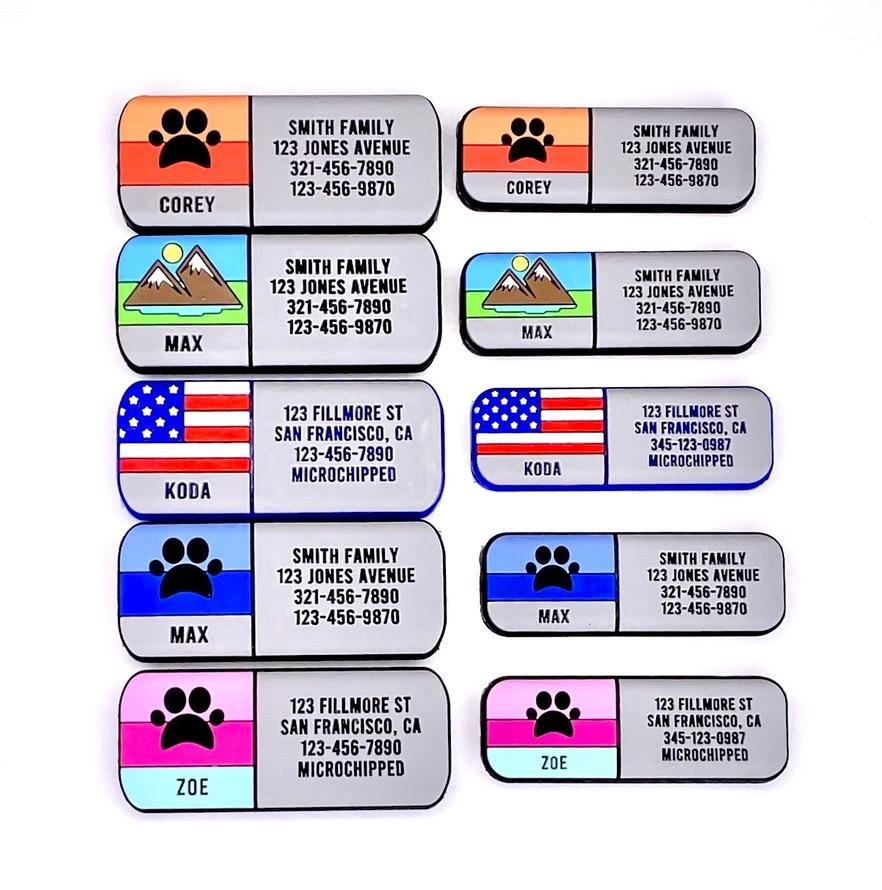 Soundless Mountain Pet Collar ID freeshipping - Love Your Pets