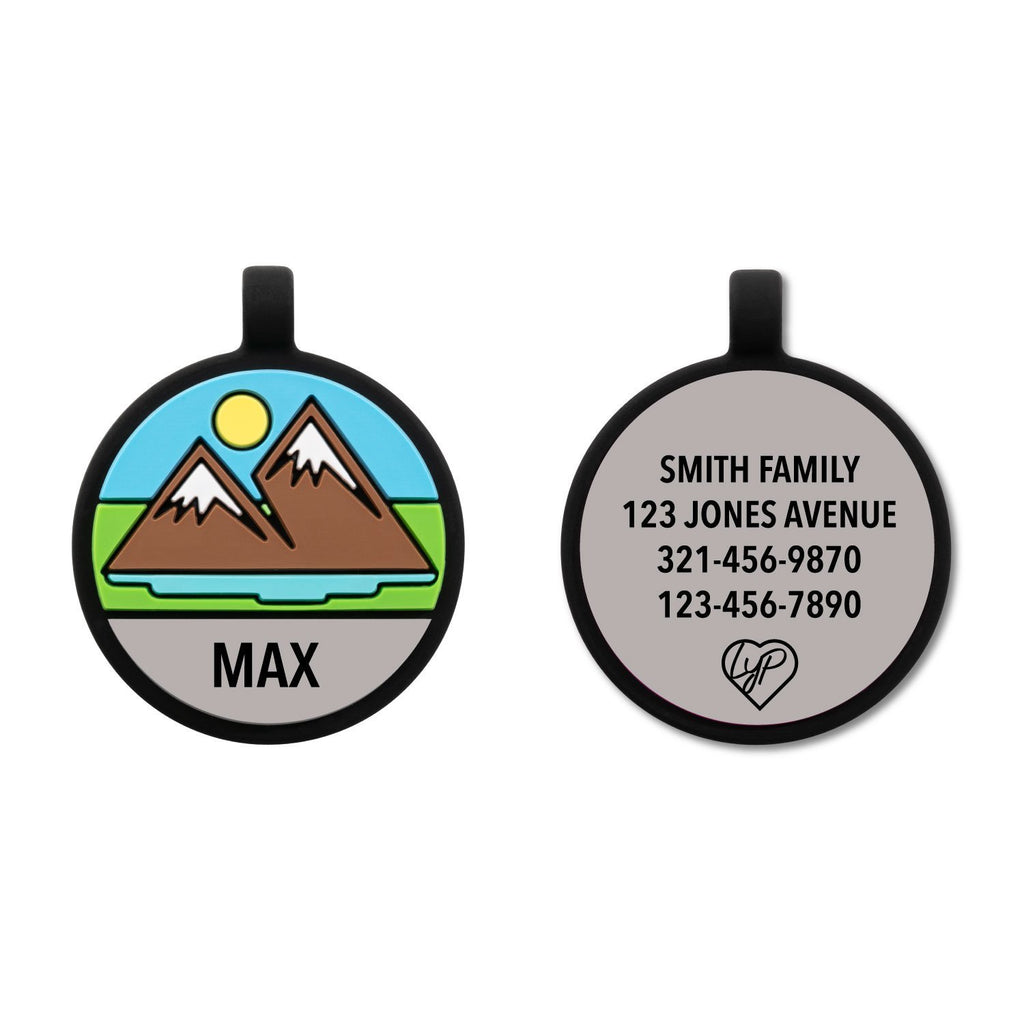 Soundless Mountain Pet Tag freeshipping - Love Your Pets