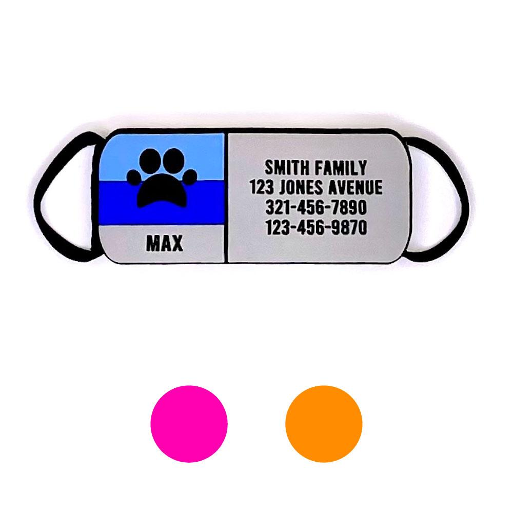 Soundless Paw Pet Collar ID - Multiple Colors Available freeshipping - Love Your Pets