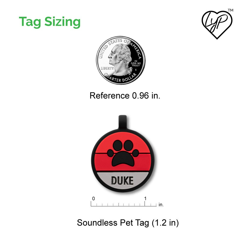 Soundless Paw Pet Tag loveyp