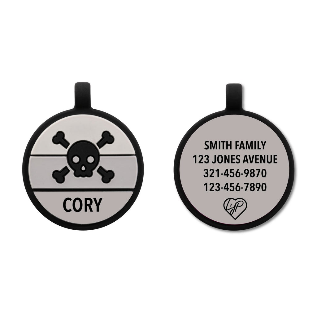 Soundless Skull Pet Tag freeshipping - Love Your Pets