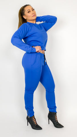 Shanice Jogger Set - Blue