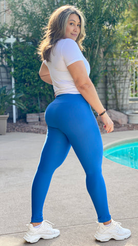 Kim Detailed Leggings - Blue