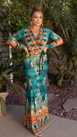 Leilani Maxi Dress - Jade