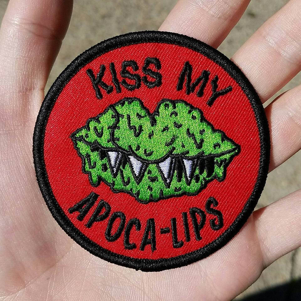 KISS MY APOCALIPS Embroidered Iron-On Patch