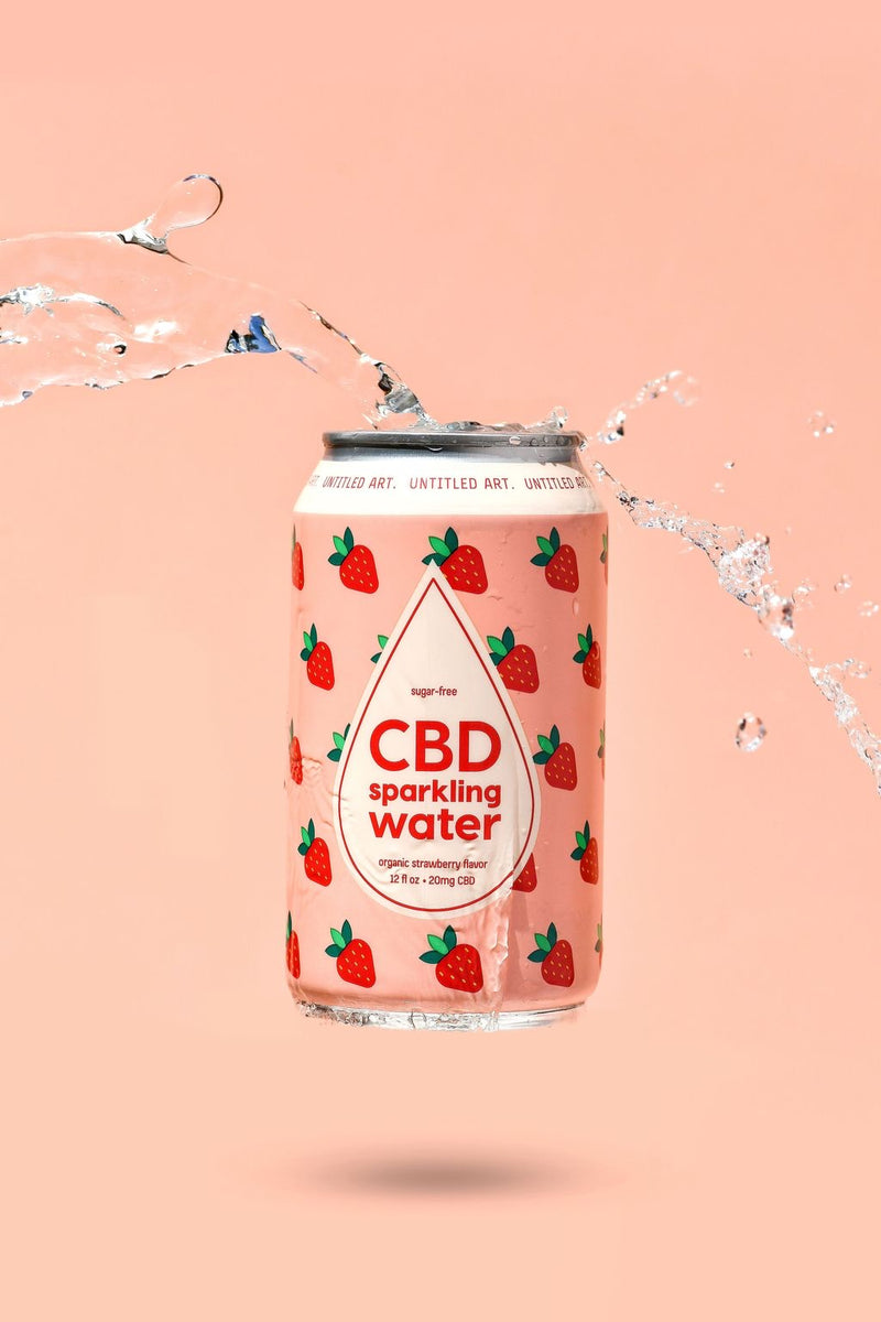 CBD SPARKLING WATER - STRAWBERRY- 6 pack