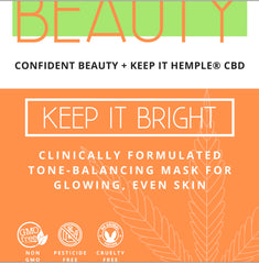 Keep it Bright | Tone-balancing mask for glowing healthy skin
