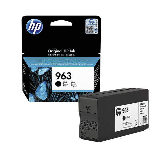 Genuine HP 963, Black  Standard Capacity Ink jet Printer Cartridges, 3JA26, 3JA26AE