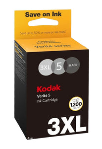 Genuine Kodak High Capacity 3XL, Verite 5 Black Original ink Jet Printer Cartridge 3XLBK