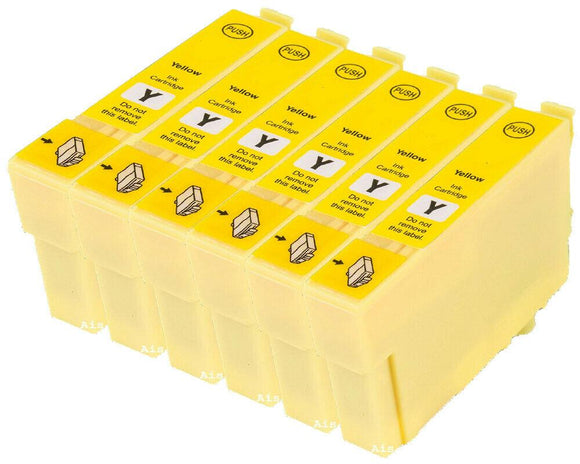 6 Compatible Yellow Ink Cartridges, Replaces For Epson T0484, TO484 NON-OEM