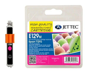 Jet Tec E129M, Magenta Ink jet Print Cartridge, Replaces For Epson T1293, T129340 NON-OEM