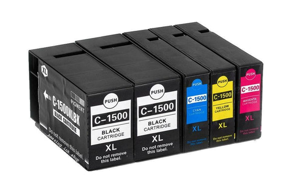 5 Compatible 1500XL Multipack Ink Cartridges Replaces For Canon MB 2050 2150 2350 2750 Ne