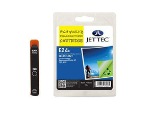 JET TEC E24B Black Remanufactured Ink Cartridge Replaces For Epson 24, T2421, C13T24214012