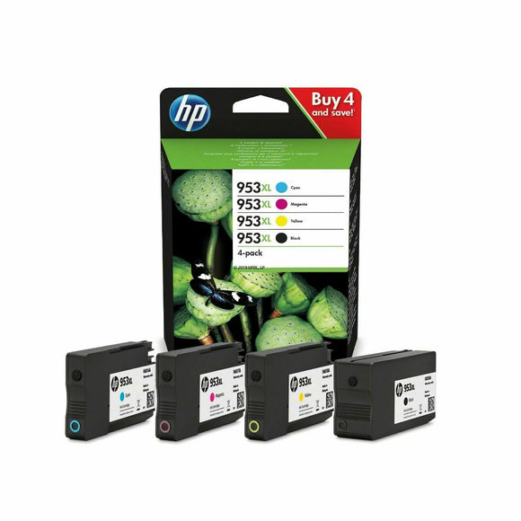 Genuine HP 953XL, High Capacity Multipack Ink Cartridges, 3HZ52, 3HZ52AE