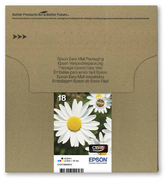 Genuine Epson 18, Daisy Claria Multipack Ink jet Print Cartridges, T1806, T180645