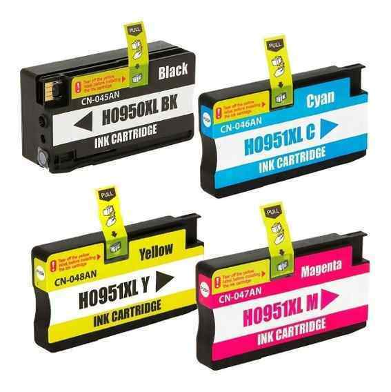 4 Colour MultiPack Compatible Ink Cartridges Replaces For HP 950XL, HP 951XL, C2P43, C2P43AE