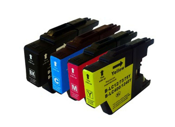 Compatible Multipack Ink jet Printer Cartridges, Replaces For Brother LC1240VALBP NON-OEM