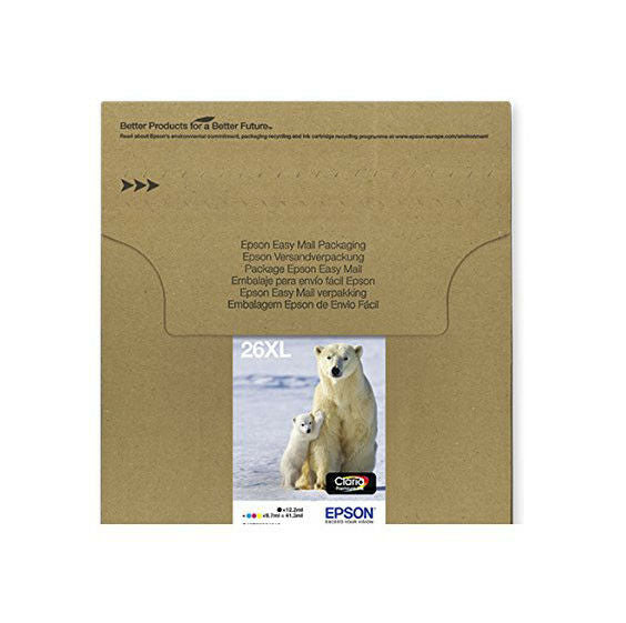 Genuine Epson 26XL, Polar Bear Multipack Claria Premium Ink Cartridges T2636, T263645