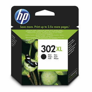 Genuine HP 302XL, High Capacity Black Ink jet Printer Cartridge, F6U68, F6U68AE
