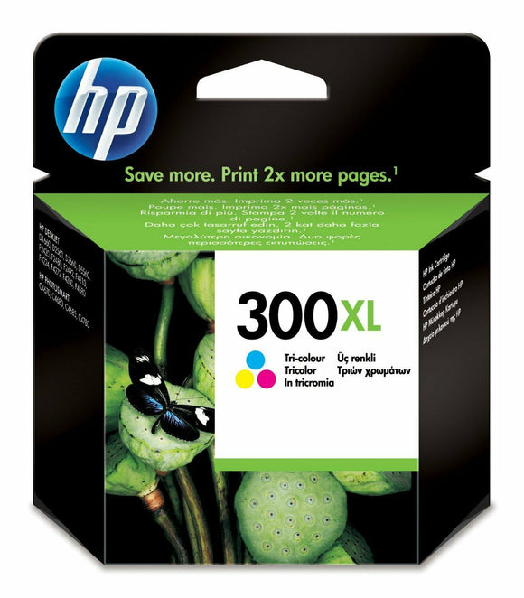 Genuine HP 300XL, High Capacity Tri-Colour Ink jet Printer Cartridge, CC644, CC644AE