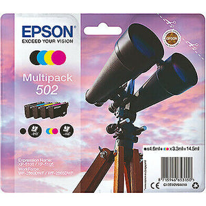 Genuine Epson 502, Binoculars Multipack Ink Cartridges, T02V6, C13T02V64010