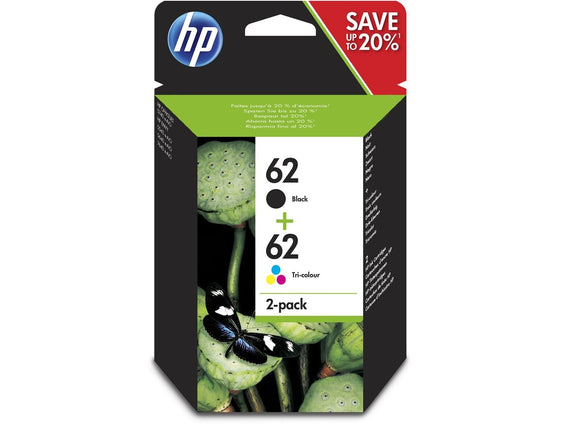 Genuine HP 62 Multipack Black & Tri-Colour Standard Capacity Ink jet Print Cartr