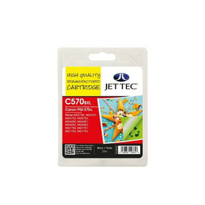 JETTEC C570XL High Capacity Black Ink Cartridge, For Canon PGI570XL, PGI-570XLBK