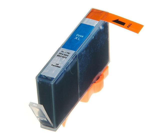 1 Compatible High Capacity Cyan Ink Cartridge, Replaces For HP 364XL, CB323EE NON-OEM