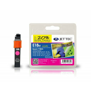 JETTEC E18M, Magenta Remanufactured Ink Cartridge Replaces For Epson 18, T1803, C13T18034012