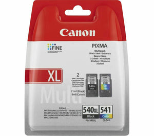 Canon Black High Capacity, & Tri-Colour Multipack Ink Cartridges, PG-540XL, CL-541