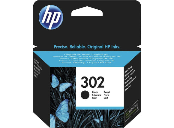 Genuine HP 302, Standard Capacity Black Ink jet Printer Cartridge, F6U66, F6U66AE