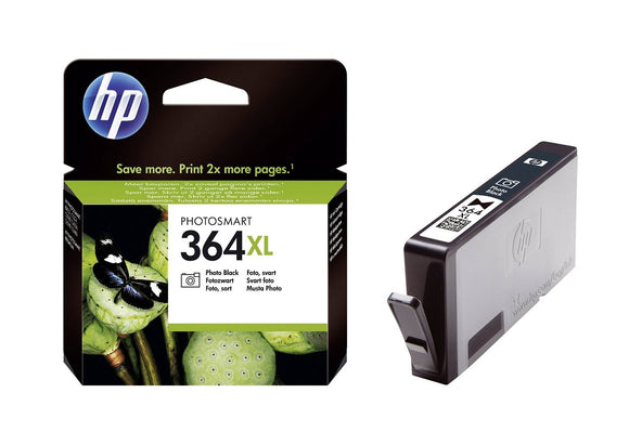 Genuine HP 364XL, High Capacity Photo Black Ink Jet Printer Cartridge, CB322, CB322EE