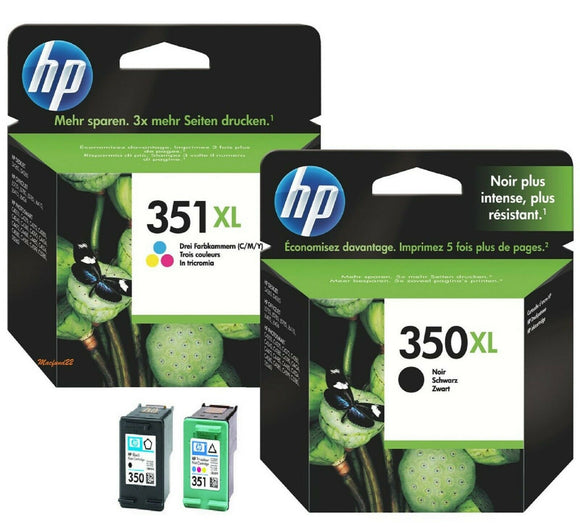 HP 350XL, 351XL High Capacity Black & Tri-Colour Ink Cartridges CB336EE, CB338EE