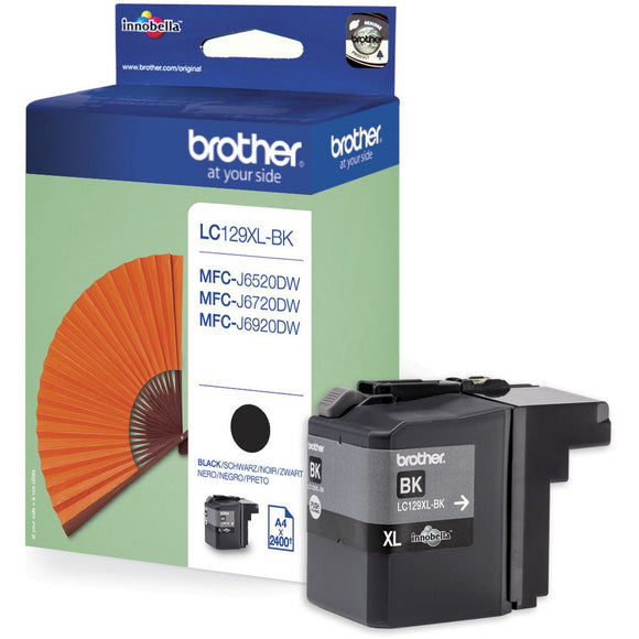 Genuine Brother LC129XLBK Extra  Large Capacity Black Ink Cartridge, LC129XL-BK