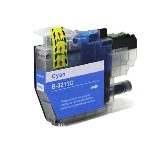1 Compatible Cyan Inkjet Printer Cartridge, Replaces For Brother LC3211C, LC-3211C