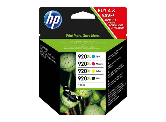 Genuine HP 920XL, High Capacity Multipack Ink Cartridges, C2N92, C2N92AE