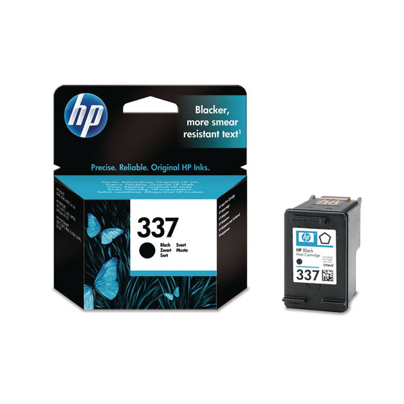 Genuine HP 337, Standard Capacity Black Ink Jet Printer Cartridge, C9364, C9364EE