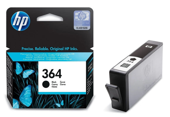 Genuine HP 364, Standard Capacity Black Ink Jet Printer Cartridge, CB316, CB316EE