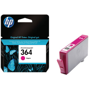 Genuine HP 364, Standard Capacity Magenta Ink jet Printer Cartridge, CB319, CB319EE
