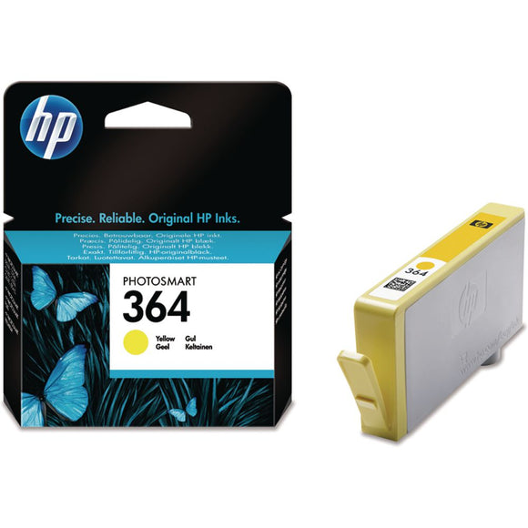 Genuine HP 364, Yellow Ink jet Printer Cartridge, CB320, CB320EE